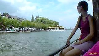 Video : China : West Lake 西湖 boat trip, HangZhou 杭州