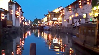 An evening boat ride in SuZhou 苏州 water town