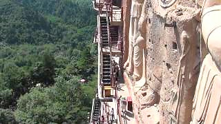 Video : China : The MaiJiShan Grottoes 麦积山石窟, TianShui, GanSu province