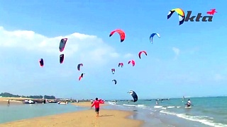Kite Surfing in XiaMen 厦门 – video
