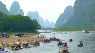Video : China : Li River 漓江 cruise, GuangXi province - video