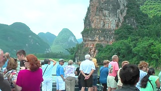 Sailing along the Li River 漓江