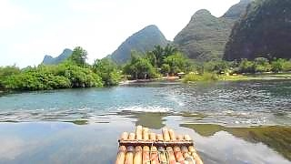 Video : China : GuiLin 桂林 - beautiful rivers and terraced rice fields