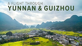 Aerial views of LuoPing 罗平, YunNan and XingYi 兴义, GuiZhou