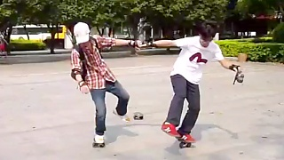 Video : China : Free-line skating in GuangZhou 广州