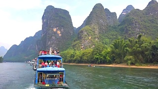 The unforgettable Li River 漓江 cruise from GuiLin 桂林 to YangShuo 阳朔