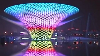 The ShangHai 上海 World Expo : night scenes – video