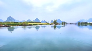 Video : China : Guilin 桂林 YuLong River - boating and bamboo rafting