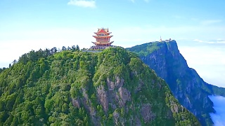 Beautiful Mount EMei (EMeiShan 峨眉山) from the air