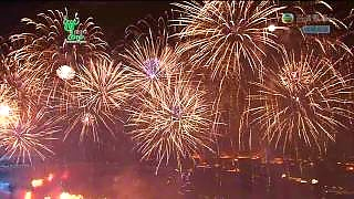 Fireworks and music on the eve of the ShangHai 上海 World Expo – video