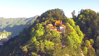HuaShan 华山 mountain from the air