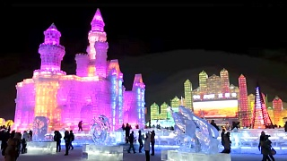 Scenes from the Snow and Ice Festival in Harbin 哈尔滨