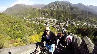 Video : China : Climbing up the Great Wall of China at JuYongGuan 居庸关, Beijing