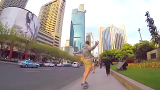 An evening skate through ShangHai 上海