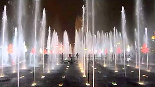 Video : China : The musical fountains in Xi'An 西安, ShaanXi province
