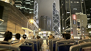 Video : China : Hong Kong 香港 night bus tour