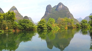 YangShuo 阳朔 : bicycle ride, YuLong River raft trip, Karst climbing, and clips from Impression Liu San Jie