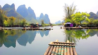 YuLong River 遇龙河 rafting, YangShuo