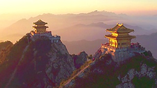 The beautiful LaoJunShan 老君山 mountain and temple, HeNan province