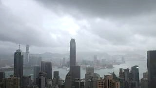 Typhoon time-lapse, Hong Kong 香港