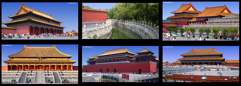Panoramic Photographs of the Forbidden City