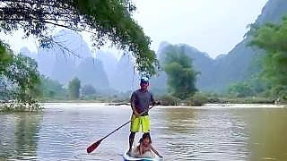 Video : China : The beautiful YuLong River 遇龙河, YangShuo to Guilin