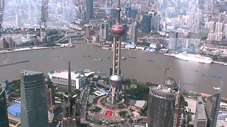 The viewing platform of the ShangHai 上海 World Financial Center